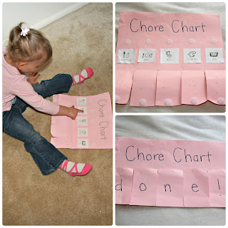 DIY toddler chore chart idea