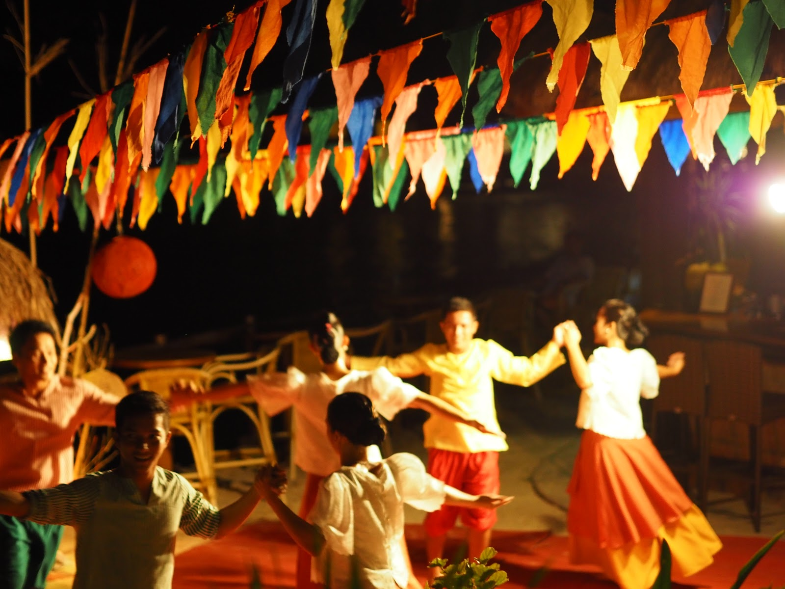 Local dancing in the Philippines