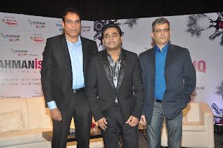 MS Muralidharan , A.R.Rahman & Deepak Gattani At RahmanIshq Announcement Press Conference At Hyatt Regency