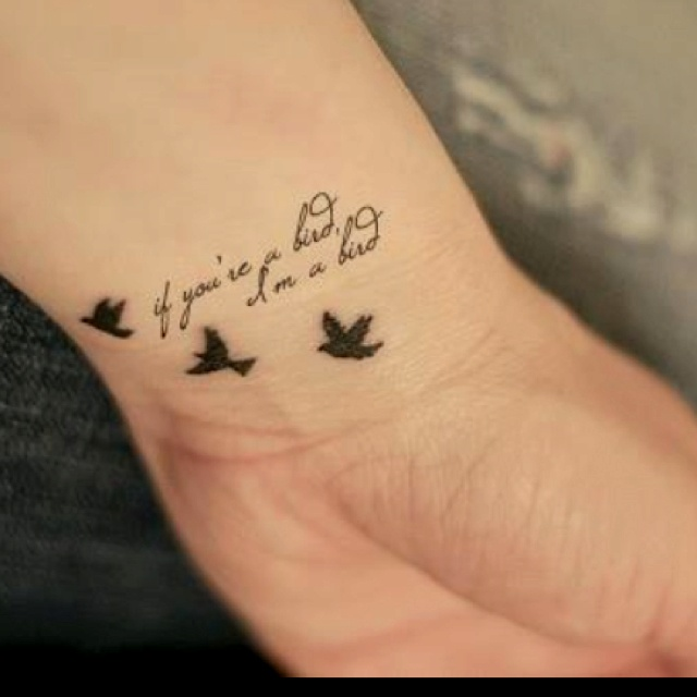 Small Literary Quote Tattoos on Harry Potter Book