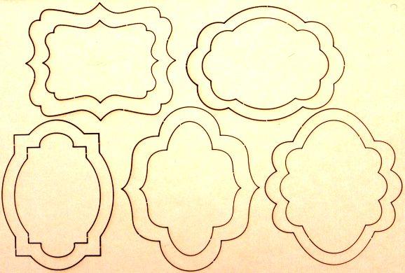 Скрапбукинг шаблон для рамки