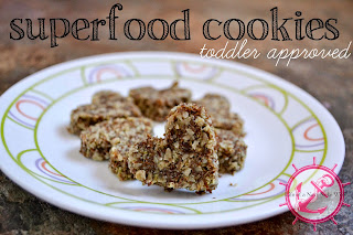 We'll also be making some superfood cookies for my daughter!