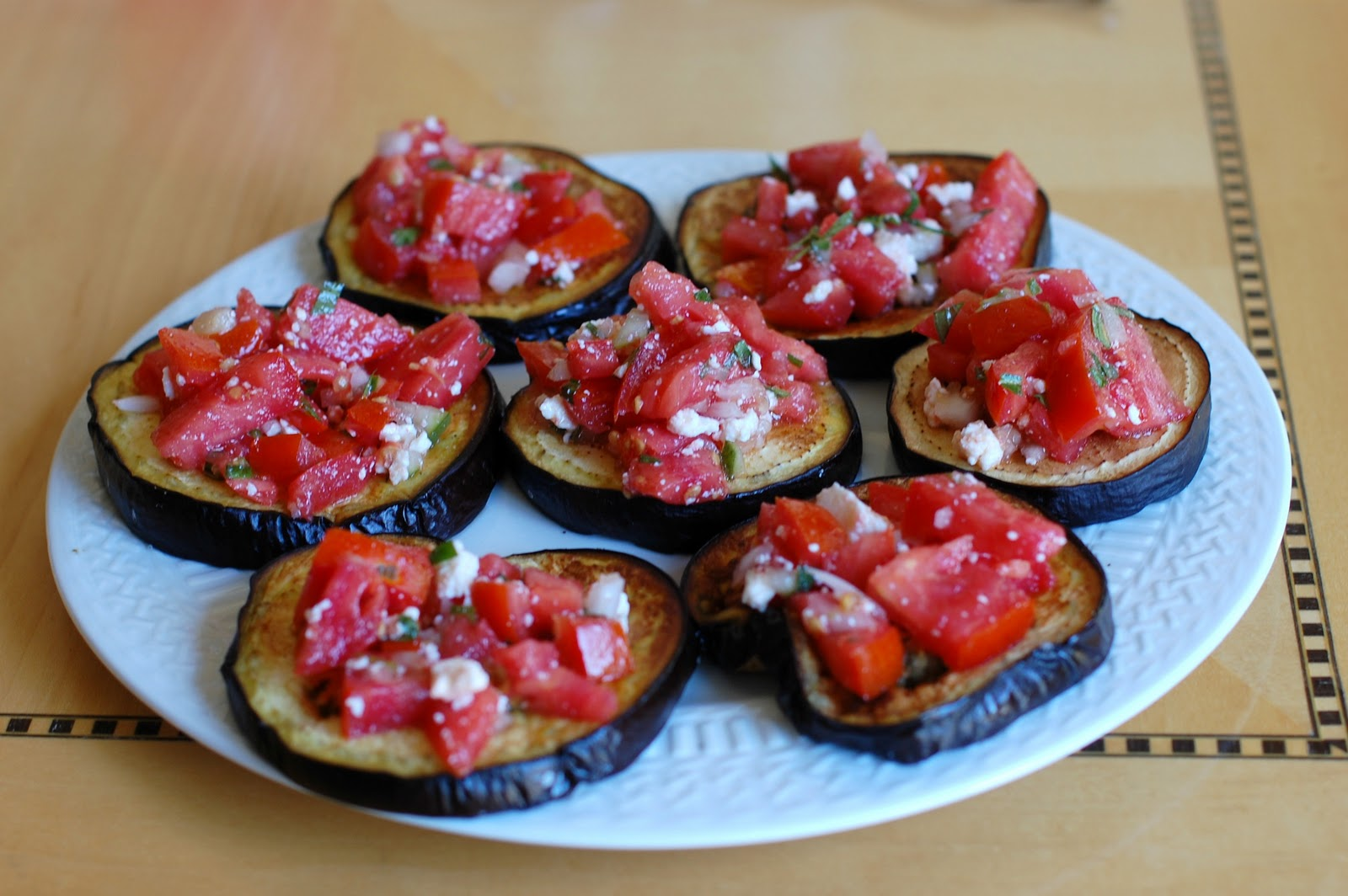 Art From My Table: Roasted Eggplant with Tomato and Mint
