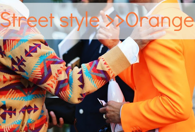 STREET STYLE  NARANJA + COLLAGE