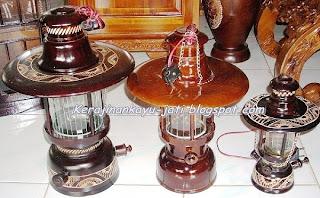 Lampu Petromak Kayu Jati