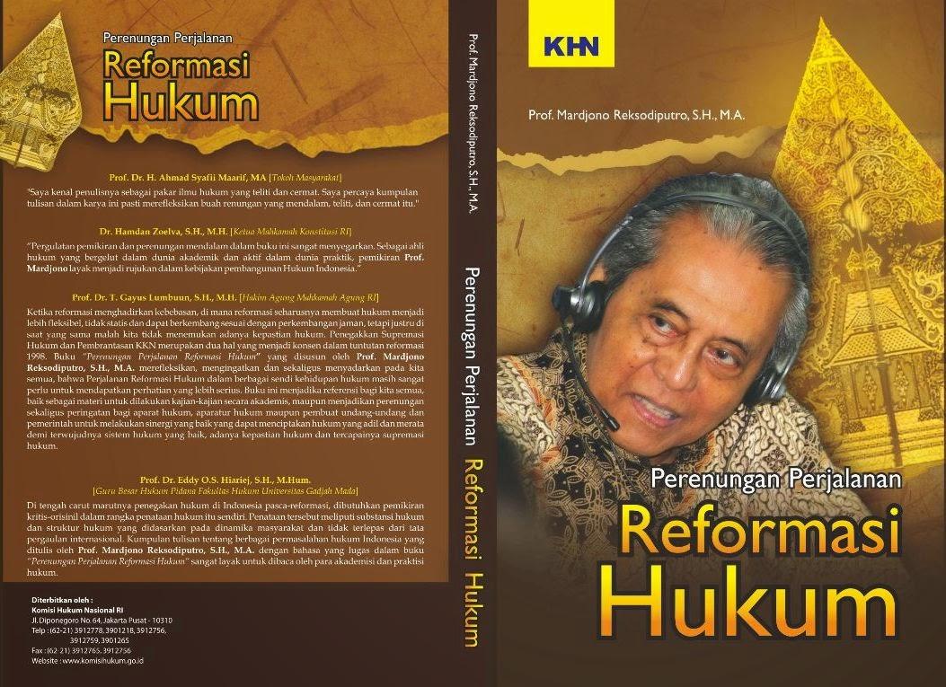 [buku] Perenungan Perjalanan Reformasi Hukum