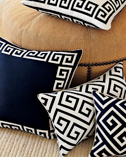 Greek Key Throw Pillows