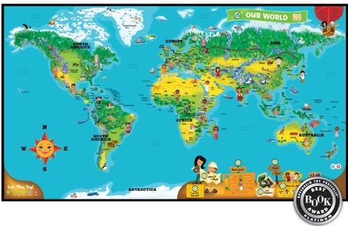 Review LeapFrog Tag World Map Activity Board Game