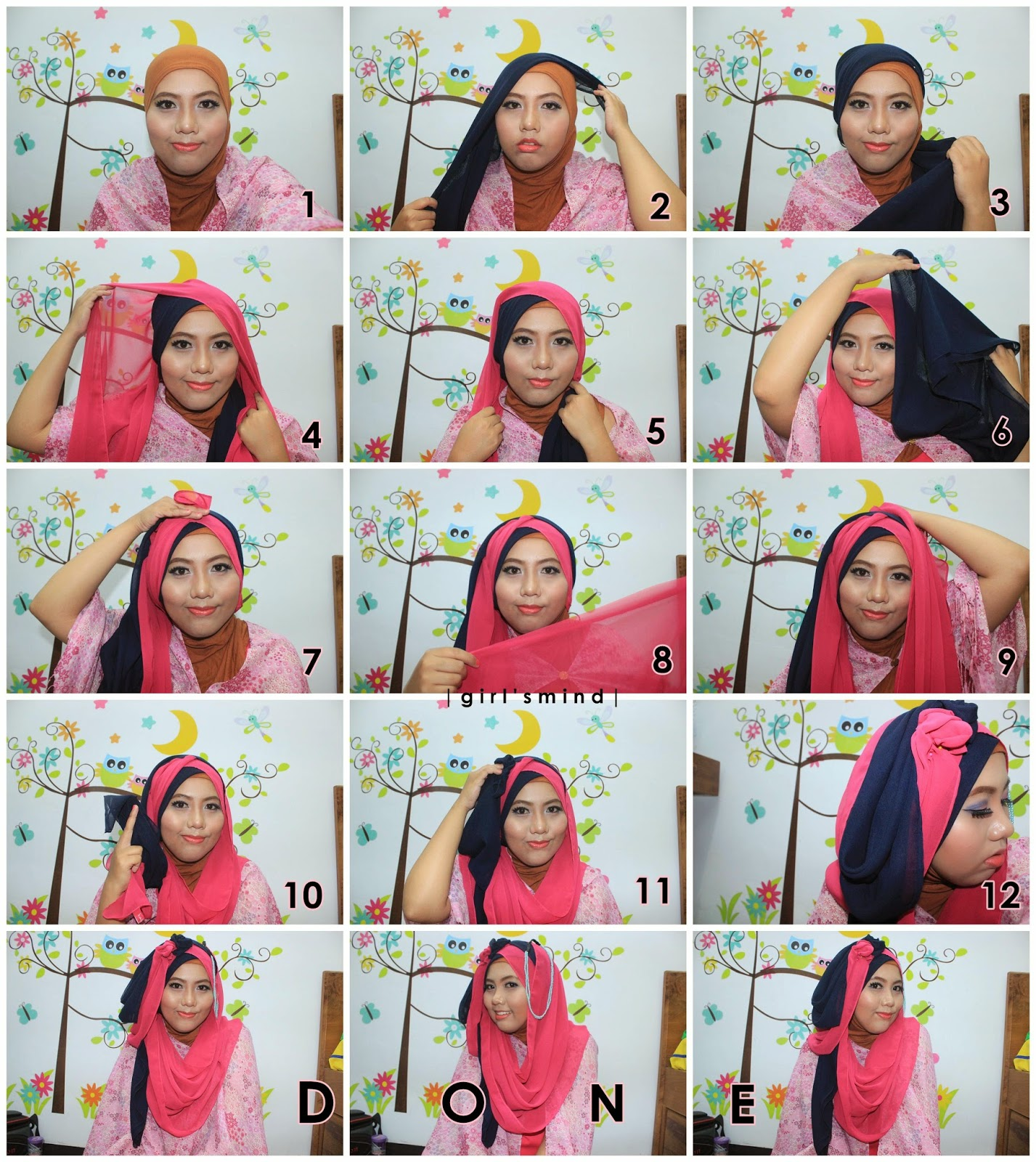 Girls Mind Tutorial Makeup Hijab Wisuda