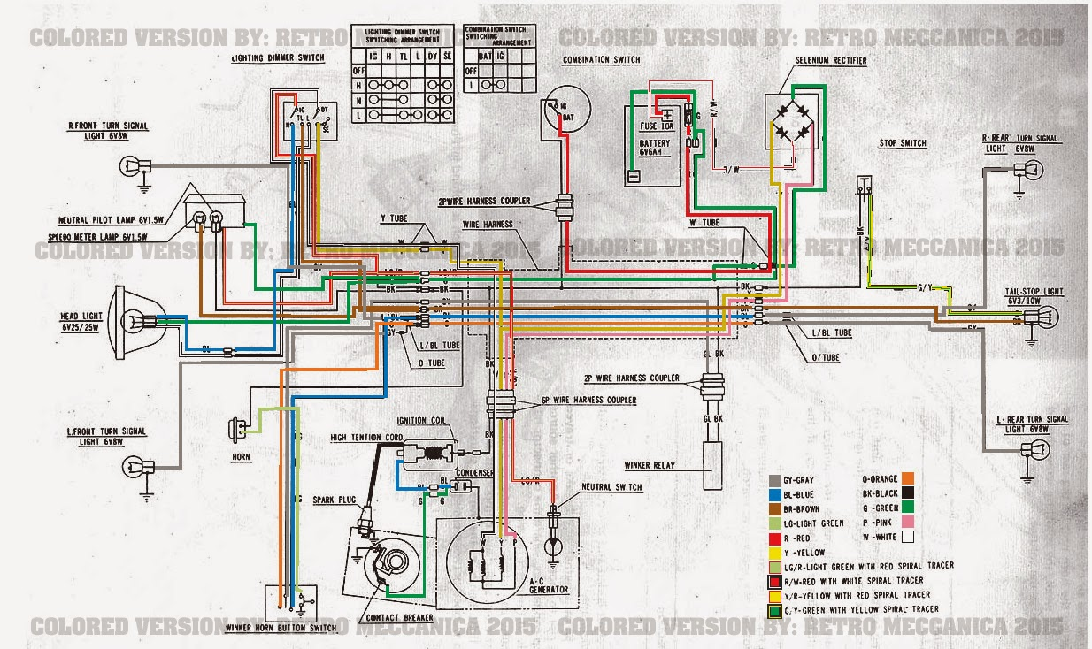 1964 Honda 50 Scooter Wiring Diagrams | Wiring Diagram