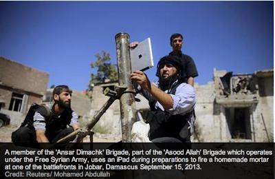 Pejuang Syria gunakan iPad untuk halakan mortar pada pasukan rejim di Damsyik