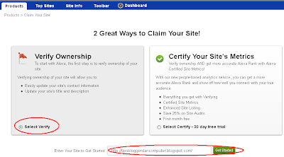 Great ways to claim your site !