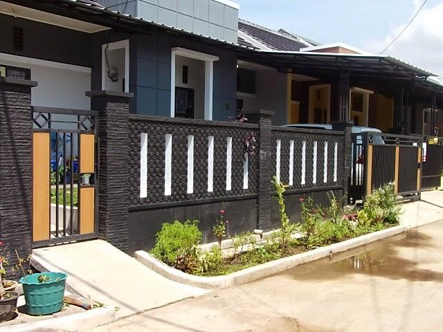 tembok batu alam rumah minimalis