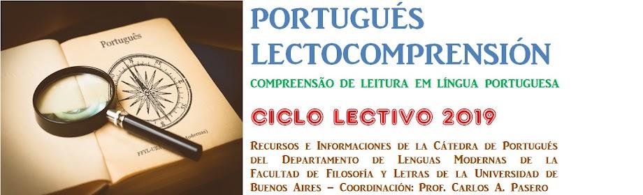 PORTUGUÉS LECTOCOMPRENSIÓN - FFYL - UBA