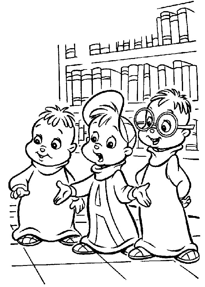Chipmunk Coloring Pages
