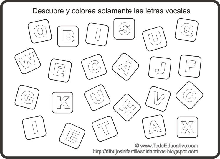 Actividades sobre las vocales para imprimir - Imagui