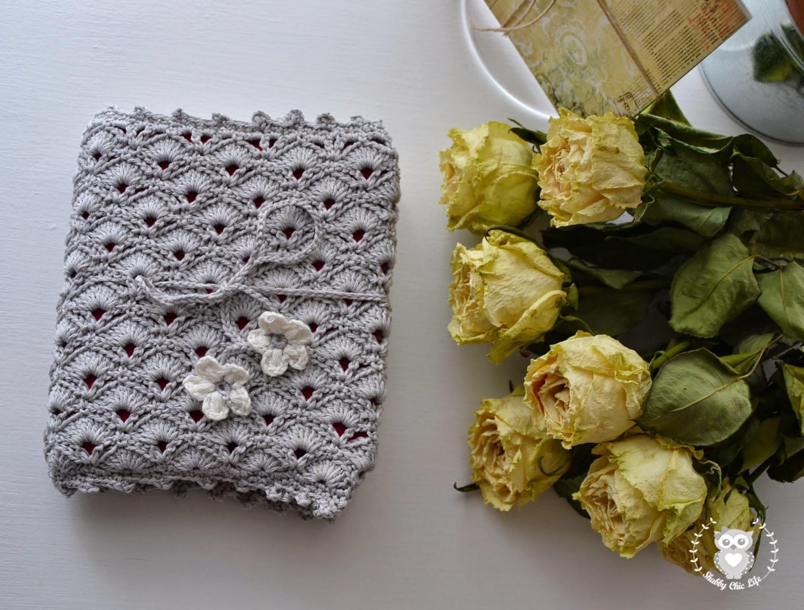 crochet, agenda, organizer, shabby chic