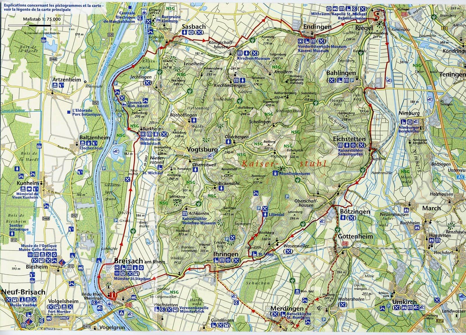 Le promeneur du 68 un tour du kaiserstuhl v lo bien - Piscine foret noire allemagne saint denis ...