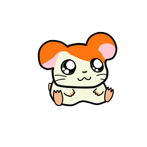 how to draw a cute hamtaro hamster draw central