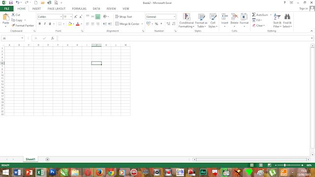Hasil Hide & unhide Excel 2013