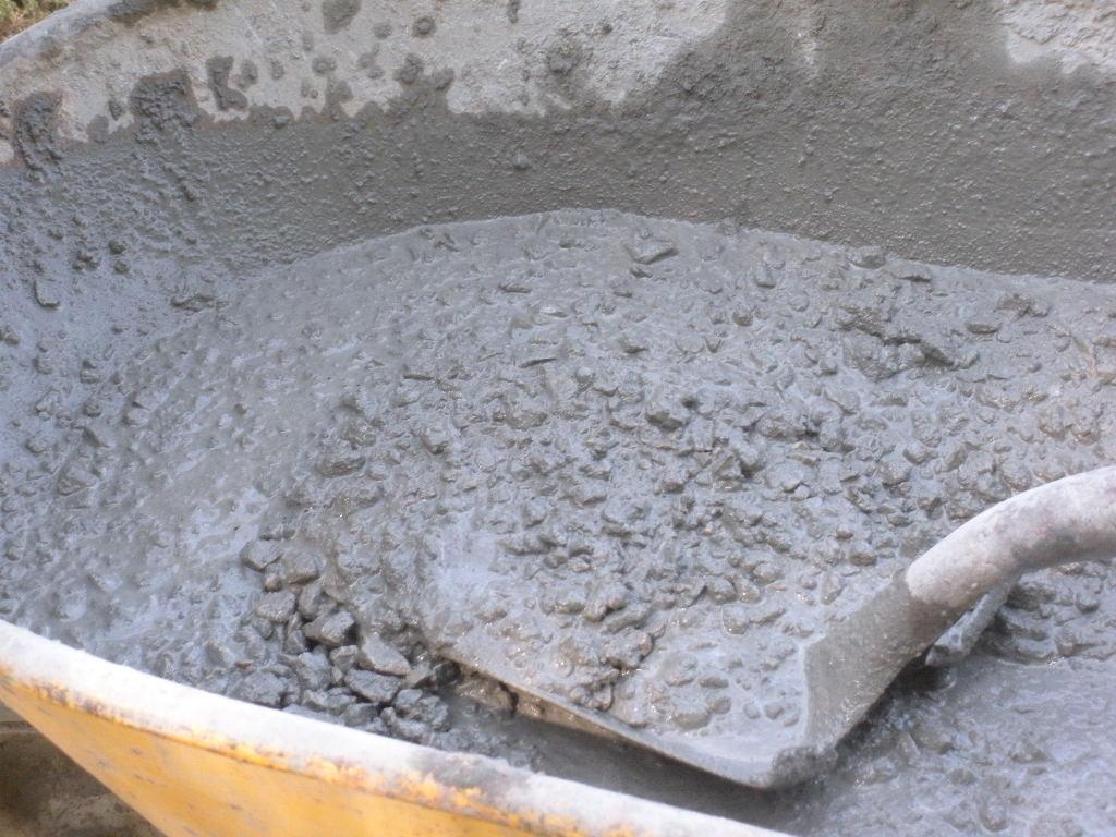 Смесь бетона своими руками 100