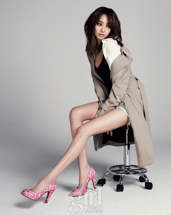 Pink wings with 10 stars go joon hee vogue girl march 2012 p s