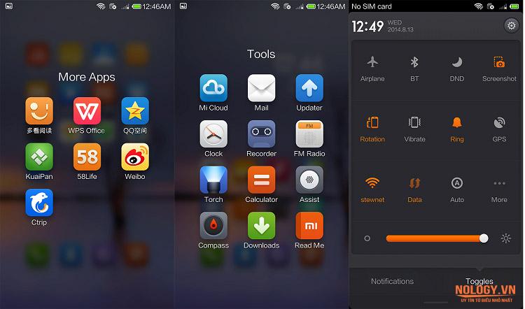 Giao diện màn hình Xiaomi Mi 4