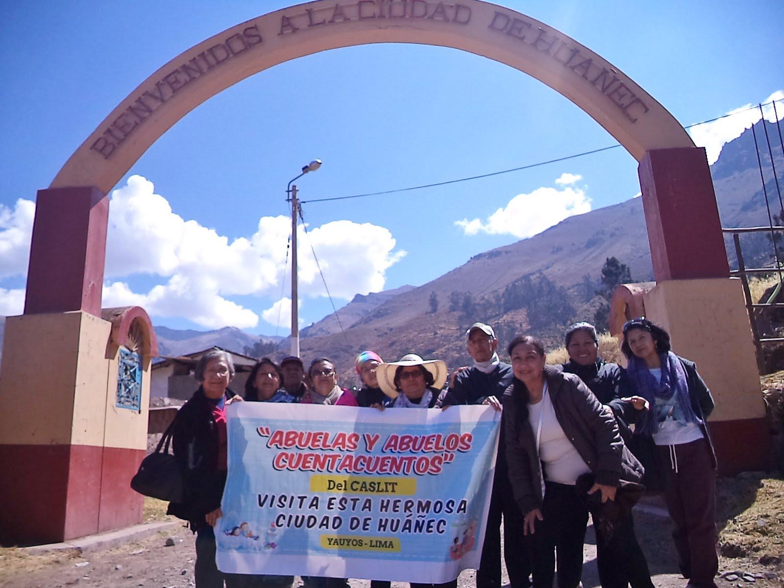 """Visita de las """"Abuelas y Abuelos Cuentacuentos del CASLIT a la Ciudad de Huñec"""