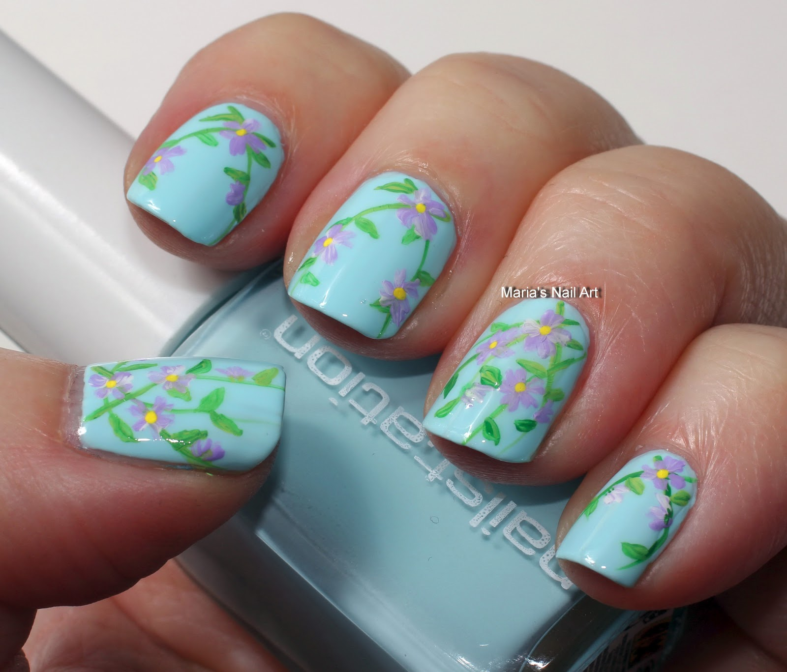 Marias Nail Art And Polish Blog Subtle Floral Nail Art On: Marias Nail Art And Polish Blog: Subtle Flower Vines For Gomme