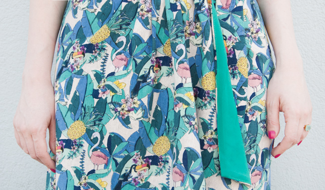 collectif clothing, sarong skirt, tropical print