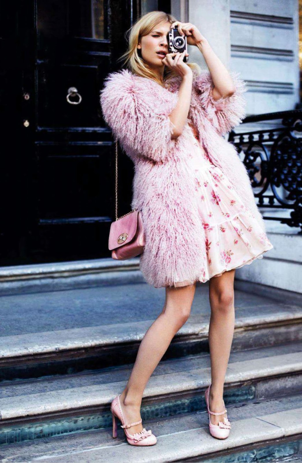 Clemence Poesy in Glamour UK February 2012 (photography: David Oldham) / via fashioned by love british fashion blog