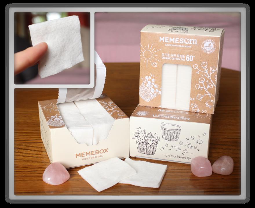 겟잇뷰티박스 by 미미박스 memebox beautybox review memeshop products haul MEMEBOX Organic Facial Cotton Pads memesom