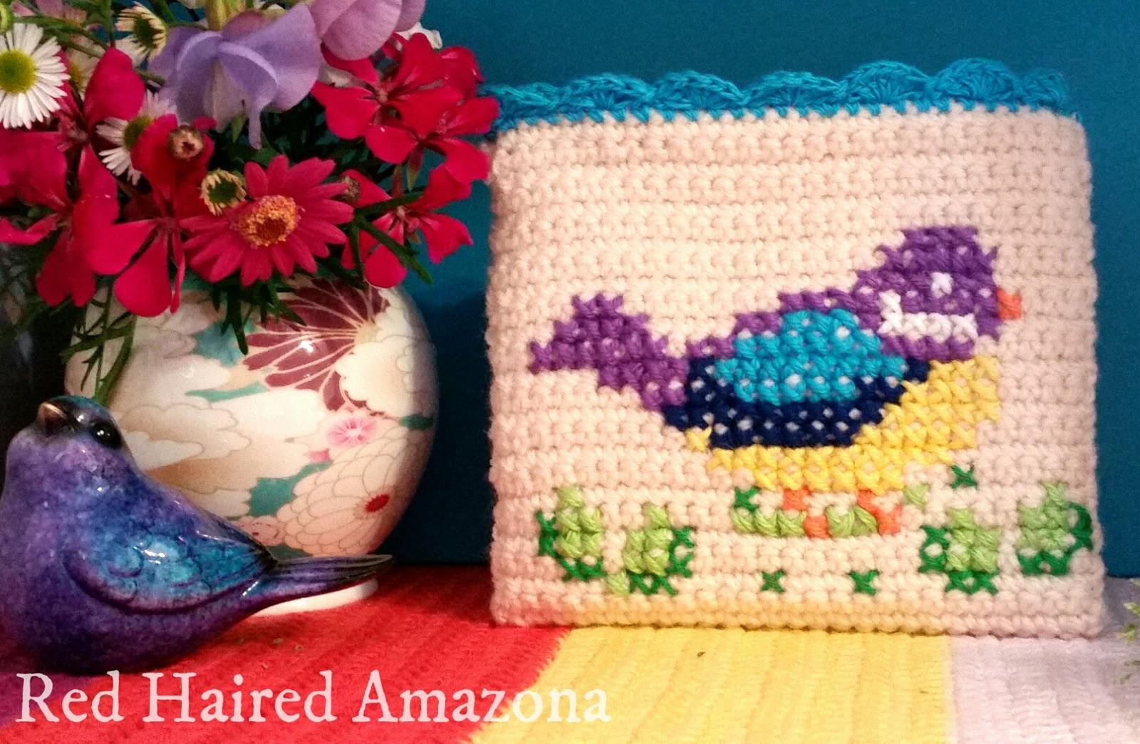 Amigurumi Bird Tutorial : Red haired amazona hey there shirley bird crochet purse tutorial