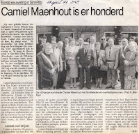 Camiel Maenhout als honderdjarige gevierd. Brugsch Handelsblad 17 april 1992
