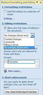 cara memprotek dokumen word 2007