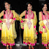 Lime Yellow Banaras Salwar Kameez