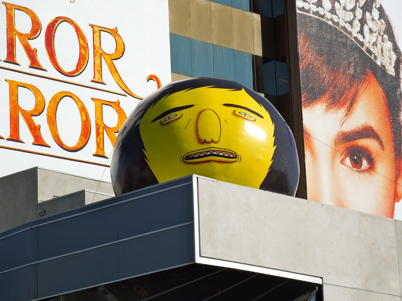 Os Gemeos giant face Sunset Strip
