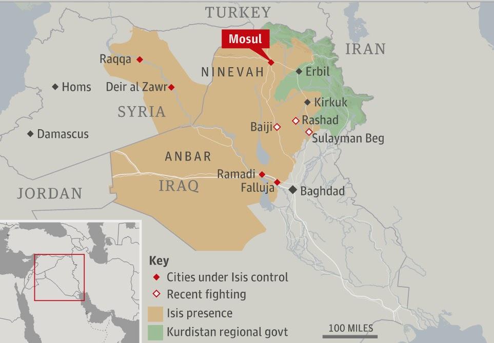 mapa de irak actual