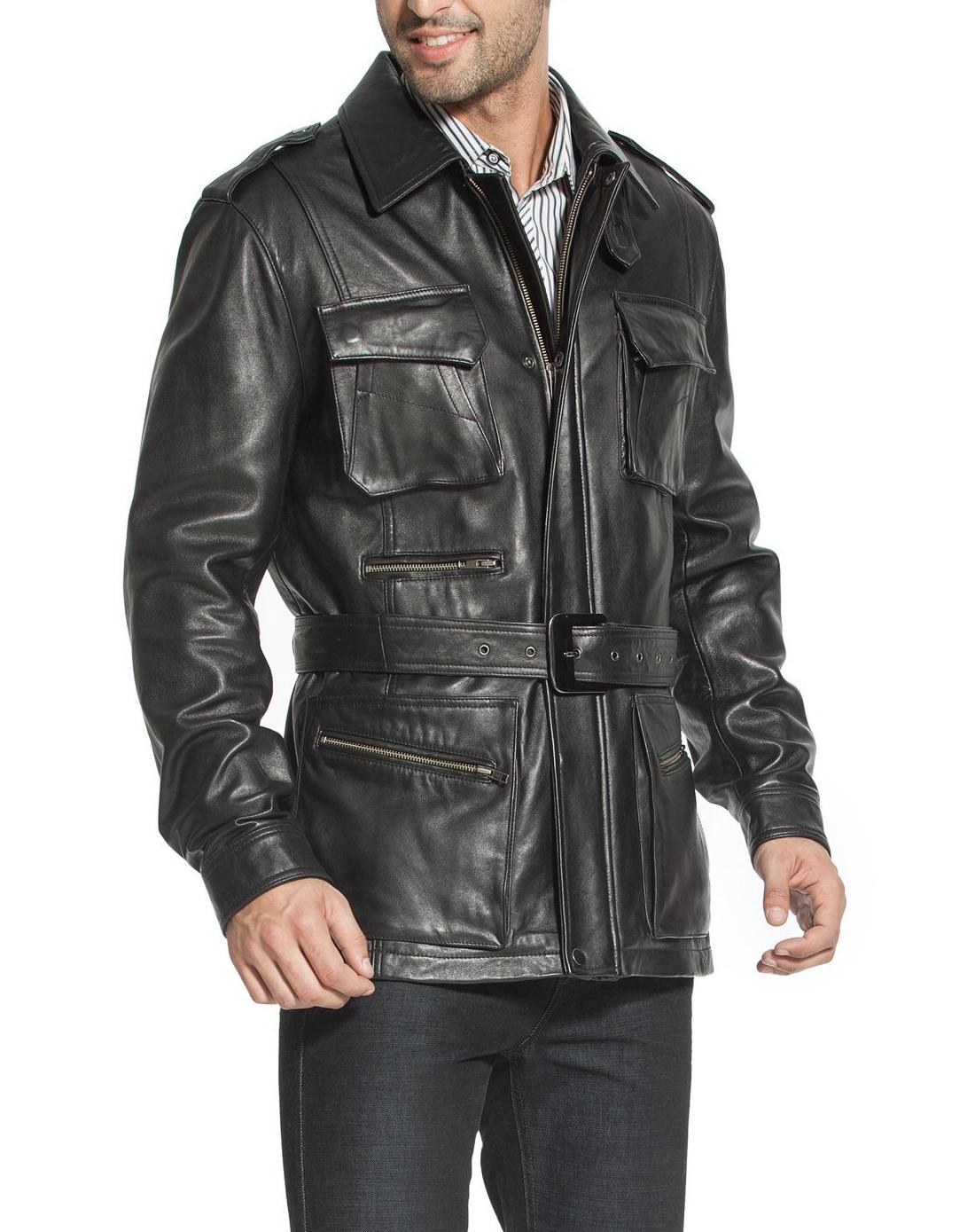Collection Leather Trench Coat Men Pictures - Reikian