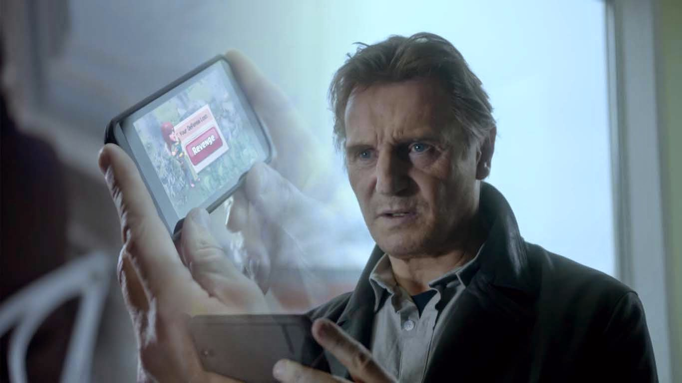 Angry Neeson is featured in Clash of Clans Superbowl ad