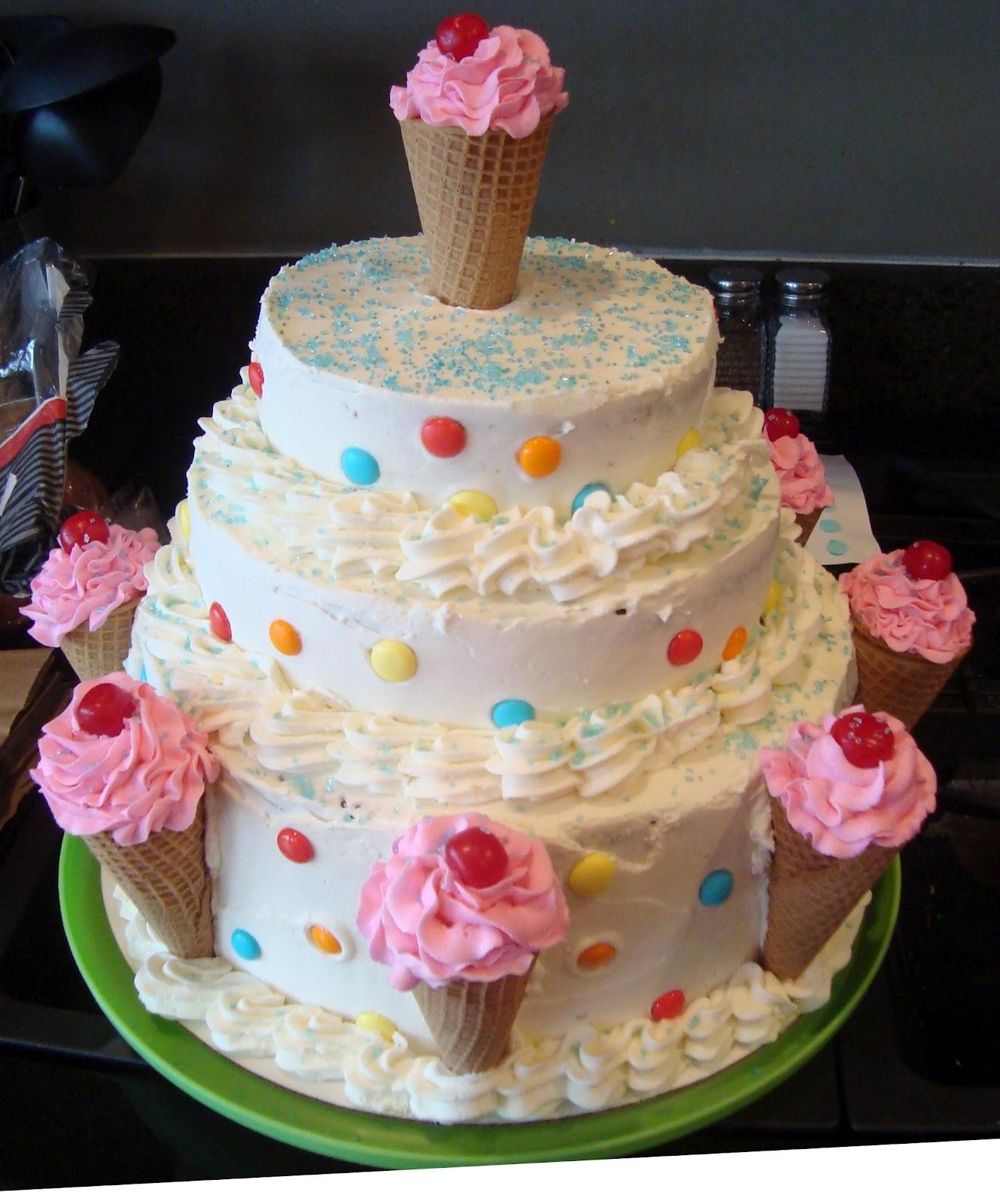 The DingaLinges: The Ice Cream Cone Cake