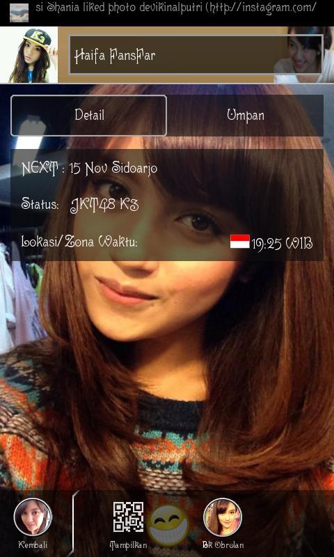 Profil teman BBM Android JKT48