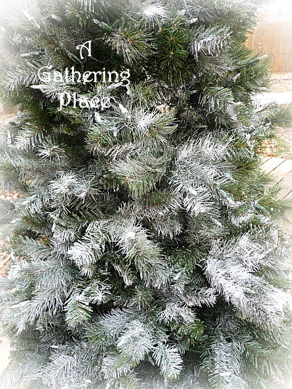 how to paint your christmas tree winter white wonderland - Fake Snow For Christmas Trees