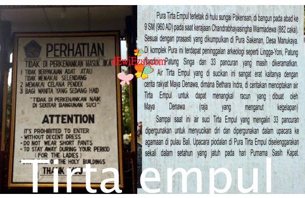 sejarah Tirta empul