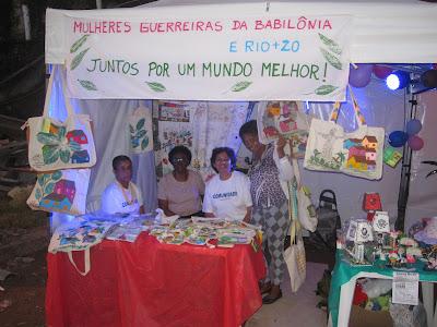 Rio+20 no Chapéu Mangueira e Babilônia: Feirinha!!!