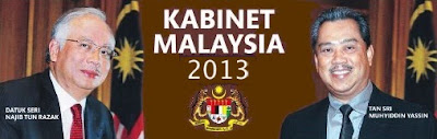 Senarai Nama-nama Menteri Malaysia 2013