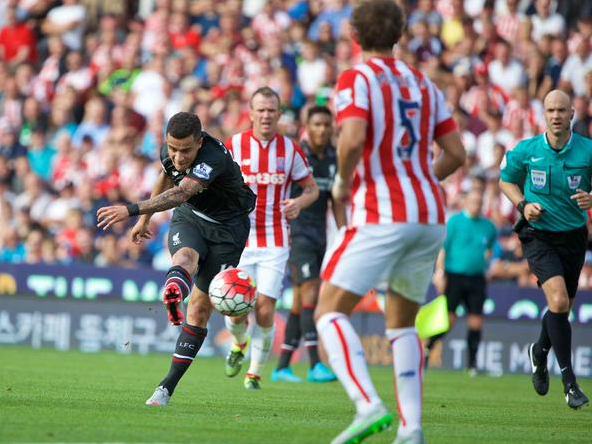 Philippe Coutinho Strike, Stoke 0-1 Liverpool
