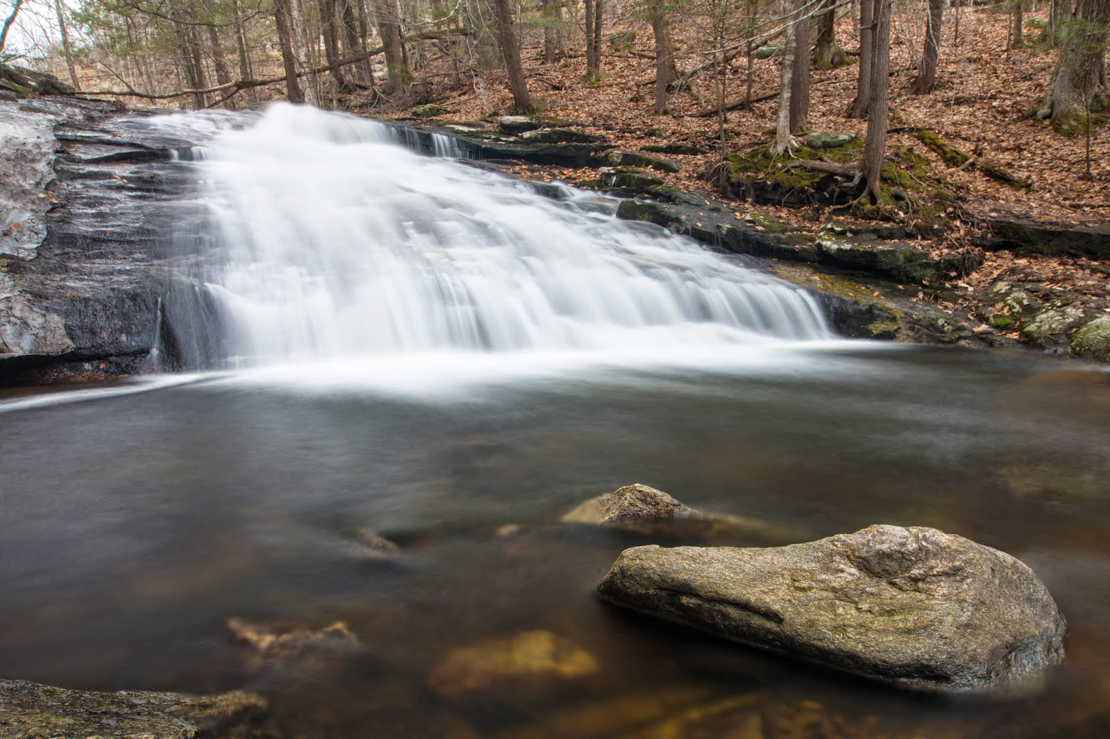 Chapel Brook Falls in western MA (photo by Ben Kimball)