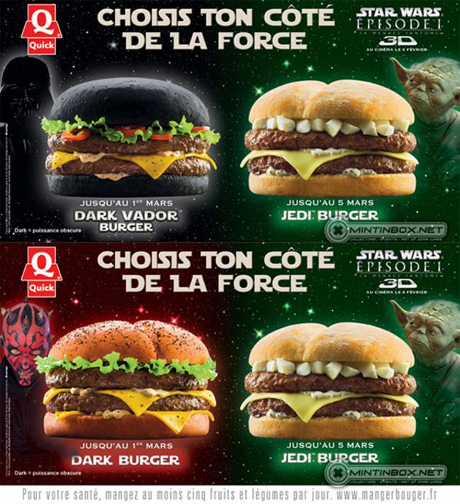 Burger hitam dan burger jedi di Perancis