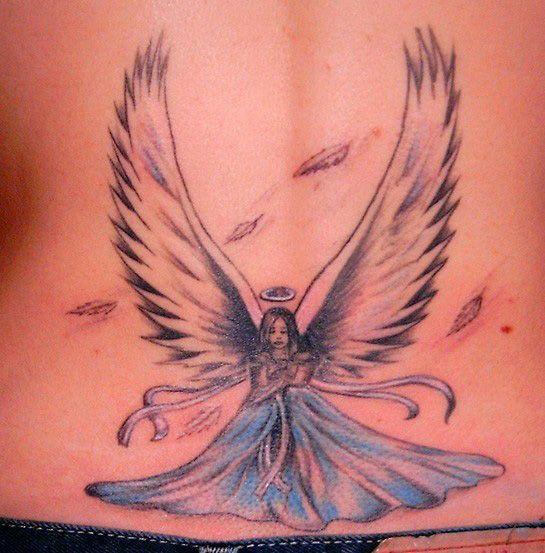 latest world news angel tattoos designs for girls. Black Bedroom Furniture Sets. Home Design Ideas